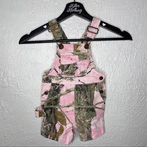 Cabela's Pink Camouflage Overalls Toddler